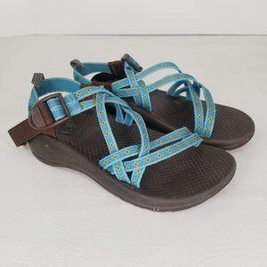 Chaco Sandals ZX1 Girls 2 Blue Hiking Water Shoes